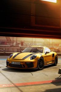 Porsche 911GT3RS Gold 4k
