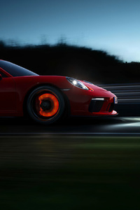 240x400 Porsche 918 Red