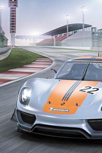 320x568 Porsche 918 RSR Concept Front View