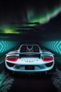1080x2280 Porsche 918 Spyder 8k