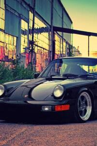 480x800 Porsche Black