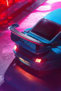 1242x2688 Porsche Blue Car 4k