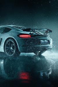1080x2280 Porsche Cayman 5k 2021