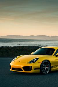 1080x2160 Porsche Cayman Front