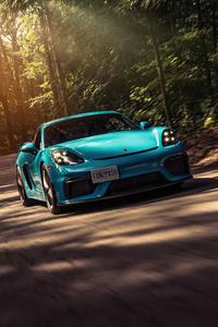 1080x2160 Porsche Cayman GT4 5k
