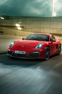 Porsche Cayman GTS Red