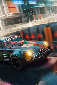 480x800 Porsche Cyberpunk 2077 5k