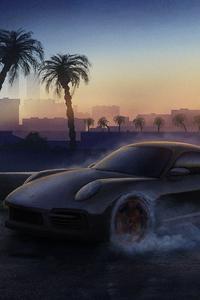 480x800 Porsche Drifting