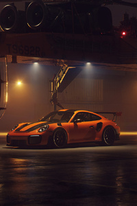 Porsche GT2RS With Helicopter