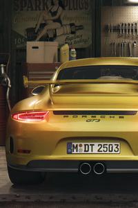 Porsche Gt3 Rear 4k