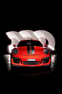 480x800 Porsche GT3RS Red Colour 5k