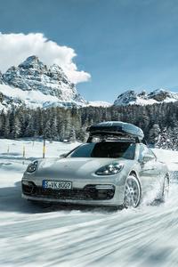 1242x2688 Porsche In Snow