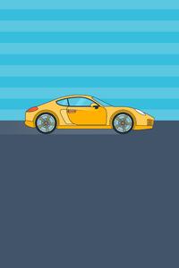 320x480 Porsche Minimal 8k