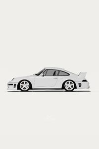 480x800 Porsche Minimal White 5k