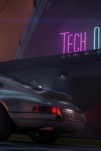 1080x2280 Porsche Outrun 4k
