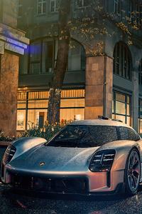 720x1280 Porsche Prototype Rain 4k