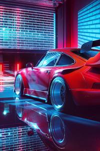 800x1280 Porsche Red 4k