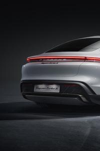 320x568 Porsche Taycan Turbo S 2019 Rear