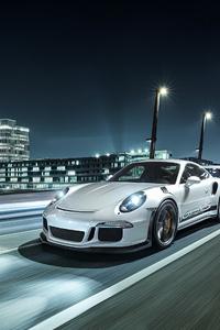 540x960 Porsche White On Road