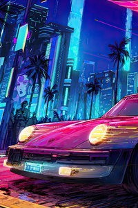 1080x2280 Porsche X Cyberpunk 2077