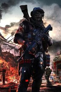 1080x1920 Post Apocalyptic Soldier Artwork