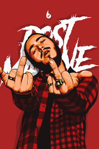 320x480 Post Malone Digital Art 4k