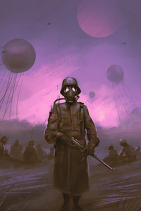 1080x1920 Post War Soldier 4k