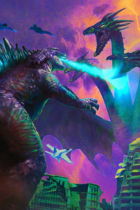 1242x2688 Poster Art Godzilla King Of The Monsters