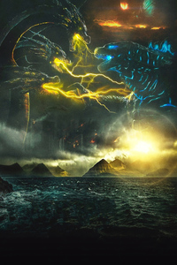 Poster Godzilla King Of The Monsters 4k