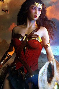 720x1280 Power Courage Wonder Woman