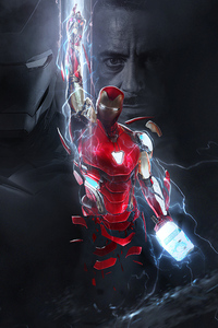 2160x3840 Powerful Iron Man 4k