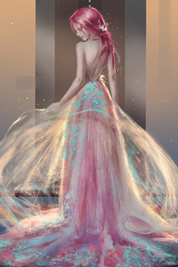 Princess Girl Magic Dress 4k