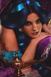 750x1334 Princess Jasmine Artwork