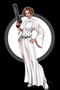 320x568 Princess Leia Minimal 4k