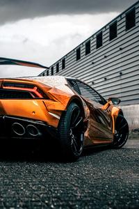1080x2160 Prior Lamborghini Huracan Rear