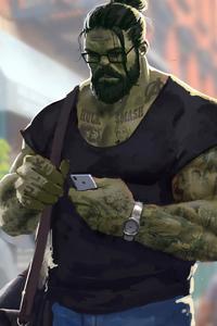 Professor Hulk Man Bun