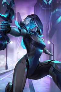 750x1334 Project Ashe League Of Legends 5k