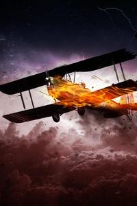 1080x2280 Propeller Plane 8k