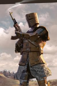 750x1334 Pubg Cardboard Warrior
