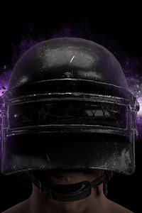 PUBG Game Helmet Guy 4k