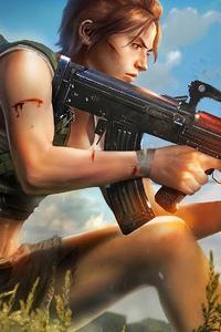 Pubg Girl Gun