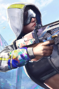 480x854 Pubg Girl With Gun