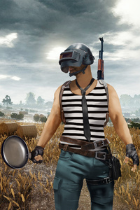 PUBG Helmet And Pan Player