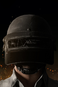 720x1280 PUBG Helmet Guy 4k