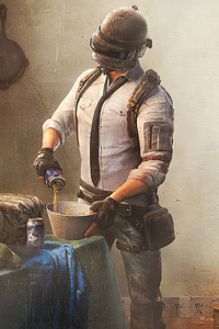 Pubg Helmet Guy Cooking