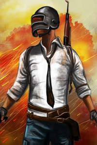 Pubg Helmet Guy Sketch Art