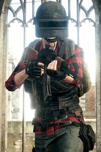 PUBG Helmet Man 4k