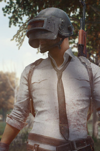 480x854 Pubg Mobile Helmet Guy