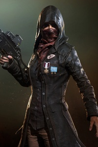 1280x2120 Pubg Trenchcoat Girl 4k