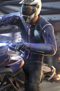 1280x2120 Pubg Yamaha Biker